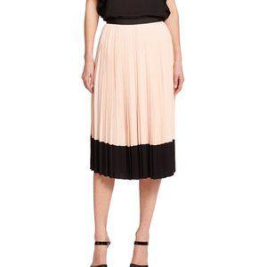 Kate Spade Pleated Crepe Midi Skirt
